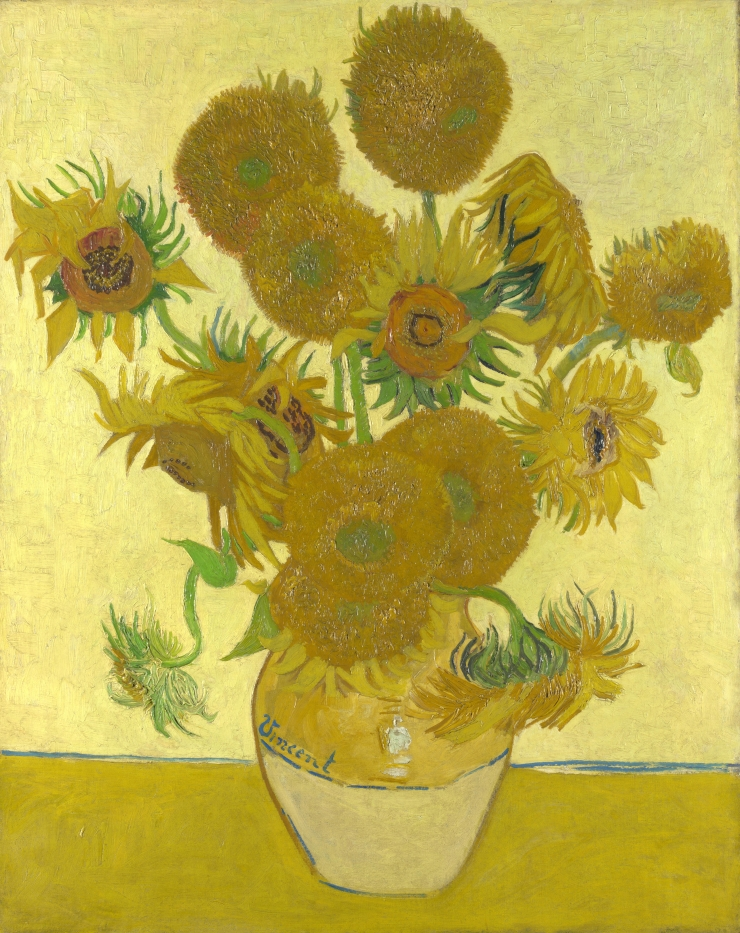 The sunflowers by van gogh
