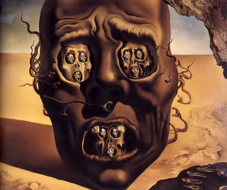Salvador-dali-the-face-of-war