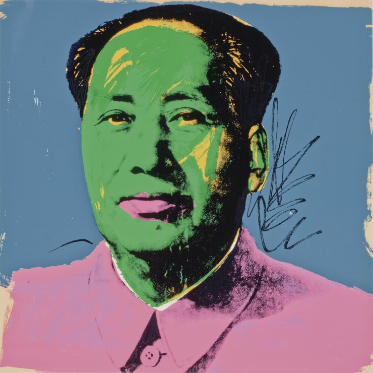 Andy-Warhol-Mao-one-plate-F.-S.-II.93-1972-screenprint-in-colors-914-x-911-cm-edition-50